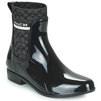 Zapatos Mujer Botas de agua Coach RIVINGTON RAIN BOOTIE Negro