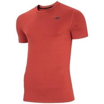 textil Hombre Camisetas manga corta 4F TSMF003 Rojos