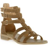 Zapatos Mujer Sandalias NeroGiardini NERO GIARDINI  405 VELOUR CASTORO Beige