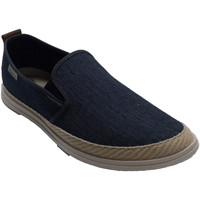 Zapatos Hombre Pantuflas Muro Zapatilla hombre de lona ribete cáñamo azul