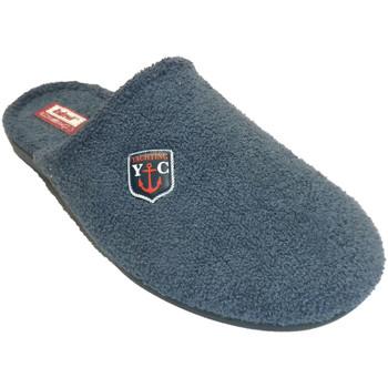 Zapatos Hombre Pantuflas Made In Spain 1940 Chancla toalla hombre cerrada por la pun azul