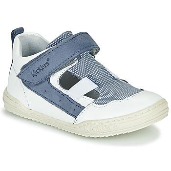 Zapatos Niño Sandalias Kickers JASON Blanco / Azul