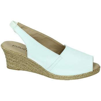 Zapatos Mujer Sandalias Lorena Massó Sandalia cabra blanc BLANCO