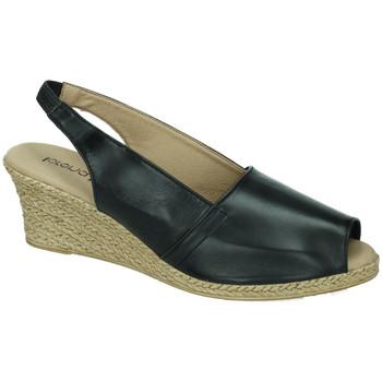 Zapatos Mujer Sandalias Lorena Massó Sandalia cabra negro NEGRO