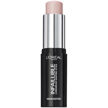 Belleza Mujer Iluminador  L'oréal Infaillible Highlighter Shaping Stick 503-slay In Rose 9 Gr