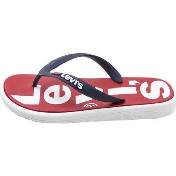 Zapatos Hombre Chanclas Levis Strauss CHANCLA LEVIS DELAMAR Rojo