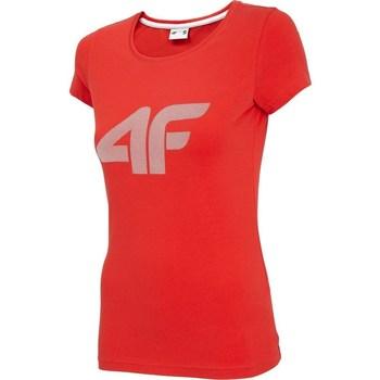 textil Mujer Camisetas manga corta 4F TSD005 Rojos