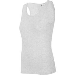 textil Mujer Camisetas sin mangas 4F TSD003 Grises