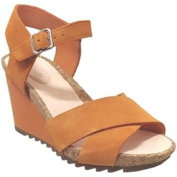 Zapatos Mujer Sandalias Clarks Flex sun naranja