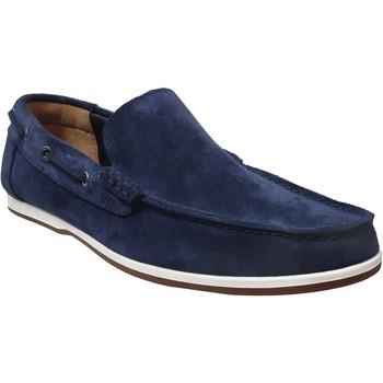 Zapatos Hombre Mocasín Clarks Morven sun Terciopelo azul