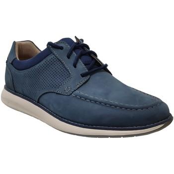 Zapatos Hombre Derbie Clarks Un pilot tie Azul nobuck