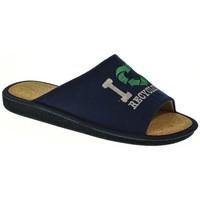 Zapatos Hombre Pantuflas Garzon 394 Azul