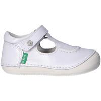 Zapatos Niño Zapatillas bajas Kickers 697982-10 SALOME Blanco