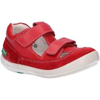 Zapatos Niños Sandalias Kickers 692391-10 KID Rojo