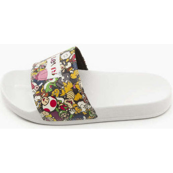 Zapatos Mujer Chanclas Levis Strauss CHANCLA LEVIS JUNE SUPERMARIO Blanco