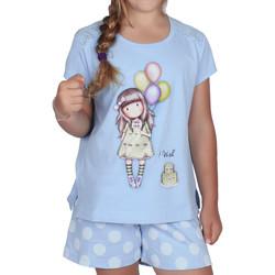 textil Niña Pijama Admas Camiseta de pijama corto I Wish Santoro azul Azul