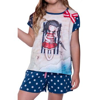 textil Mujer Pijama Admas Camiseta corta del pijama Días de verano Santoro marine Azul Marine