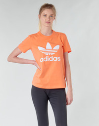 textil Mujer Sudaderas adidas Originals TREFOIL TEE Naranja