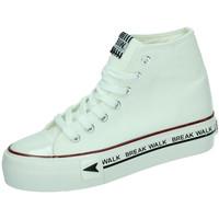 Zapatos Mujer Zapatillas altas B&w Lonas plataforma Beige