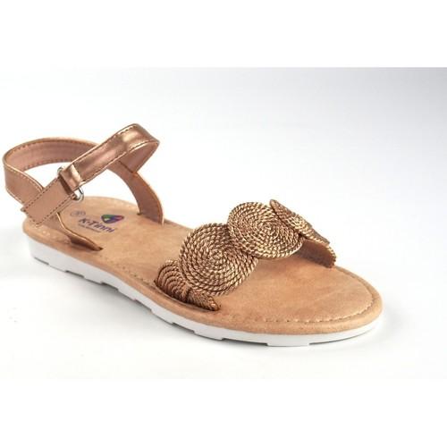 Zapatos Niña Sandalias Katini Sandalia niña  17804 kyx bronce Jaune