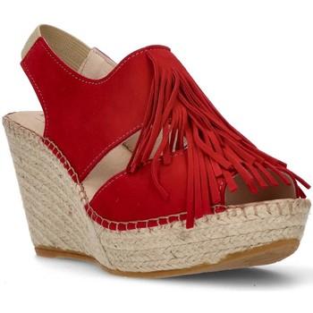 Zapatos Mujer Sandalias Ramoncinas ALPARGATAS AFRODITA FLECOS ROJO