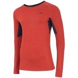 textil Hombre Camisetas manga larga 4F TSMLF002 De color naranja