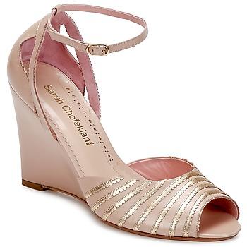 Zapatos Mujer Sandalias Sarah Chofakian LA PARADE Rosa / DORADO