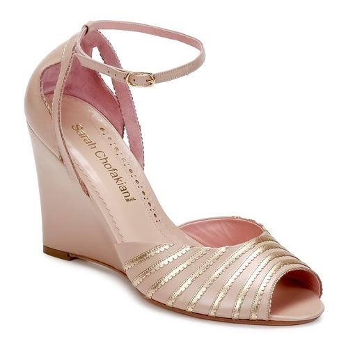 Los zapatos más populares para hombres y mujeres Zapatos especiales Sarah Chofakian LA PARADE Rosa / Dorado