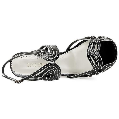 Sandalias NegroDorado Zapatos Sarah Wings Mujer Chofakian 0OvmN8nw
