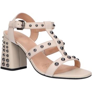 Zapatos Mujer Sandalias Geox D92DTB 00043 D SEYLA HIGH Hueso