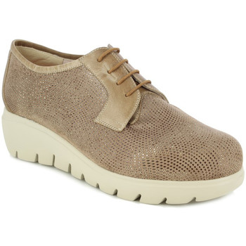 Zapatos Mujer Derbie Doctor Cutillas BLUCHER  CUÑA 5 CMTS. 36 TAUPE TAUPE