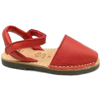 Zapatos Niños Sandalias Ria MENORQUINA  VELCRO ROJO