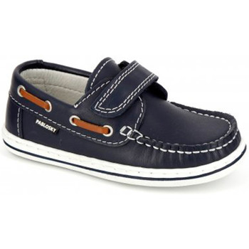 Zapatos Niños Zapatos náuticos Pablosky NAUTICO VELCRO 24 AZUL AZUL