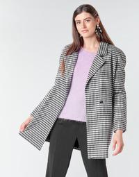 textil Mujer Abrigos Betty London NIVER Negro / Blanco