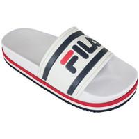Zapatos Chanclas Fila morro bay zeppa wmn white/stripe Blanco