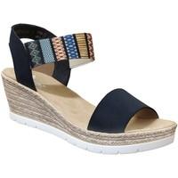 Zapatos Mujer Sandalias Rieker 61910 Azul multicolor