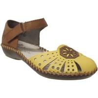 Zapatos Mujer Sandalias Rieker M1666 amarillo