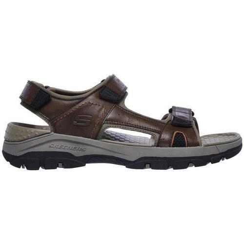 Zapatos Hombre Sandalias Skechers 204106 BRN Cuero