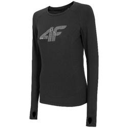textil Mujer Camisetas manga larga 4F TSDLF001 Negros
