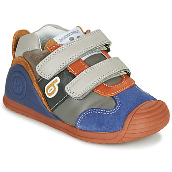 Zapatos Niño Zapatillas bajas Biomecanics ZAPATO SPORT VELCRO Gris / Azul / Naranja