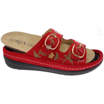 Zapatos Mujer Zuecos (Mules) Calzaturificio Loren LOB5021ro rosso