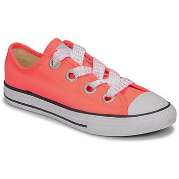 Zapatos Niña Zapatillas bajas Converse CTAS BIG EYELET OX LAVA GLOW/WHITE/BLACK Rosa