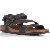 Zapatos Hombre Sandalias Interbios 9557 MARRON