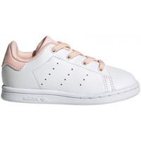 Zapatos Niños Zapatillas bajas adidas Originals Stan smith el i Blanco