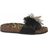 Zapatos Mujer Zuecos (Mules) Colors of California BIO MAXI FLOWER black