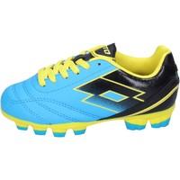 Zapatos Niño Fútbol Lotto sneakers cuero sintético azul