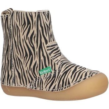 Zapatos Niña Botas Kickers 739123-10 SOCOOL Blanco