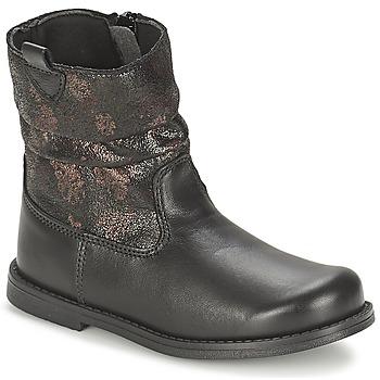 Zapatos Niña Botas urbanas Citrouille et Compagnie JOUGRI Negro
