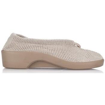 Zapatos Mujer Pantuflas Arcopedico STELP L TEJIDO BEIG ROJO