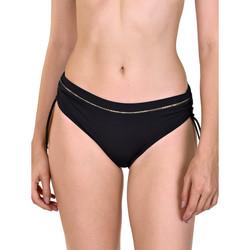 textil Mujer Bañador por piezas Lisca Ancona  Camisetas de traje baño lateral corridas Pearl Black